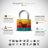 Shopping Infographic Royalty Free Stock Image