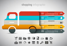 Shopping Infographic Stock Image