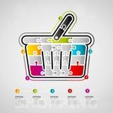 Shopping infographics Stock Photo