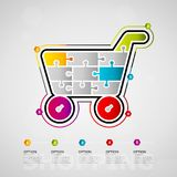 Shopping infographics Royalty Free Stock Photography
