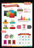Shopping Infographics Royalty Free Stock Images
