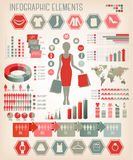 Shopping infographics. Royalty Free Stock Photo