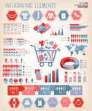 Shopping infographics. Vector. Stock Photography