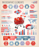 Shopping infographics. Vector. Stock Photos