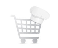 Shopping for ingredients. illustration design Stock Photography