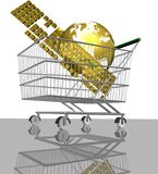 Shopping and internet Royalty Free Stock Photography