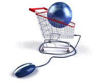 Shopping on the internet Royalty Free Stock Photo