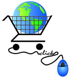 Shopping on the internet Stock Photography