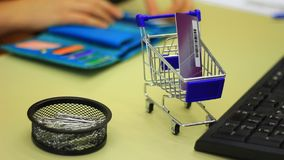 Shopping in the Internet stock video footage