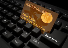 Shopping on the internet icon symbol. Shopping on the internet keyboard symbol 3d render Stock Photography
