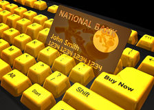 Shopping on the internet icon symbol. Shopping on the internet keyboard symbol 3d render Royalty Free Stock Images