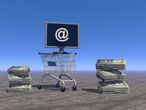 Shopping on the Internet Stock Image