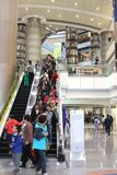 Shopping interno moderno em Shanghai, China Foto de Stock Royalty Free