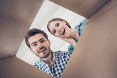 Free Shopping Is Fun And Exciting! Low Angle Photo Of Surprised Beaut Royalty Free Stock Photos - 119013418
