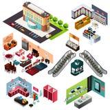 Shopping isométrico Imagens de Stock