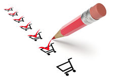 Shopping items Stock Image