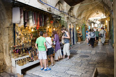 Shopping in Jerusalem Stock Images