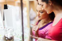 Shopping for jewelery royalty free stock photo