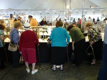 Shopping for Jewelry at the Festival Royalty Free Stock Photo