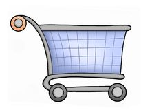 Shopping kart. Color illustration of shopping kart Royalty Free Stock Photography