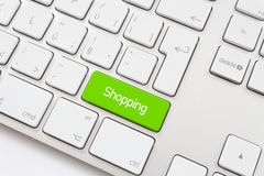 Shopping key with trolley icon Stock Image