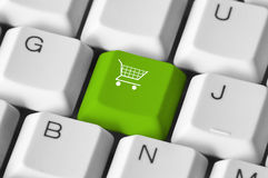 Shopping keyboard Royalty Free Stock Photo