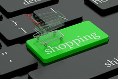 Shopping keyboard button Royalty Free Stock Photography