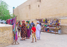 The shopping in Khiva Stock Photos
