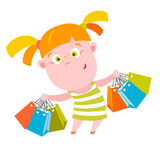 Shopping kid Royalty Free Stock Image