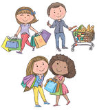 Shopping kids Royalty Free Stock Images