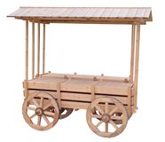 Shopping kiosk stylized as an old cart. On white background stock image