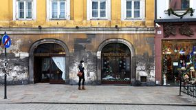 Shopping in Krakow in Christmas time Stock Photography