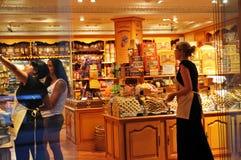 Shopping in La Rambla, Barcelona Royalty Free Stock Images
