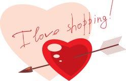 Shopping label Stock Photo