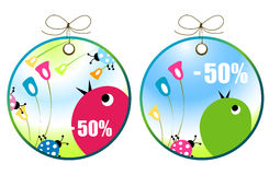 Shopping labels Stock Images