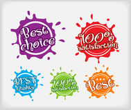 Shopping labels. Blot style Royalty Free Stock Image