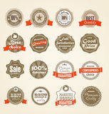 Shopping labels collection. Premium quality, Satisfaction etc Stock Photography