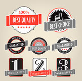Shopping labels and logo Stock Photos