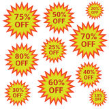 Shopping labels Stock Photo