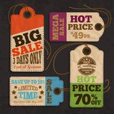 Shopping labels and tags collection Royalty Free Stock Images