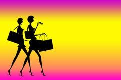 Shopping ladies Stock Image