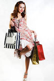 Shopping lady Stock Photography