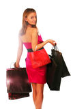 Shopping lady Royalty Free Stock Photography