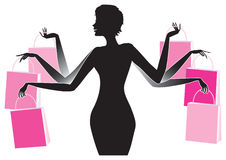 Shopping lady Royalty Free Stock Images