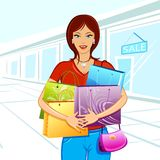 Shopping Lady Stock Images