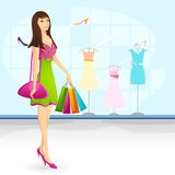Shopping Lady Royalty Free Stock Photo