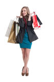 Shopping lady with beautiful smile Stock Images
