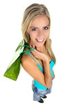 Shopping Lady with Colorful Bags Royalty Free Stock Image