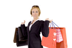 Shopping like crazy Stock Image