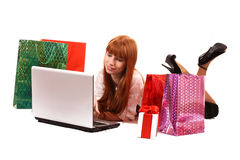 Shopping on-line Royalty Free Stock Photo